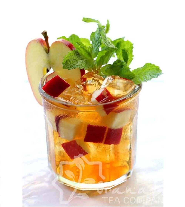 vaso de té soluble de manzana