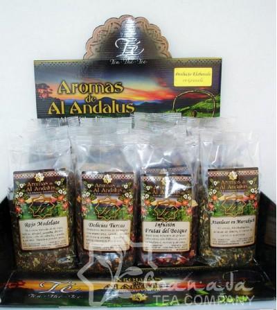 Expositor Té Aromas de Al Andalus para 100 gr.