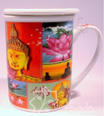 Mug con filtro buda