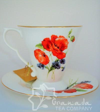 Taza de Porcelana con plato, Irma