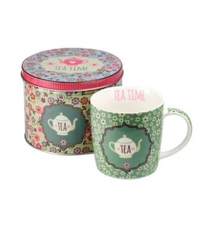 Mug Tea Time Green  300 ml.