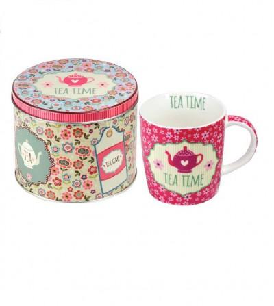 mug y lata de regalo pink