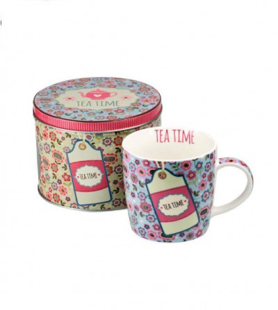 Mug Tea Time Blue 300 ml.