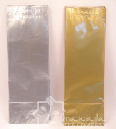 bolsas  para té oro y plata