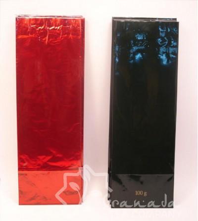 bolsas para té rojo y verde oscuro