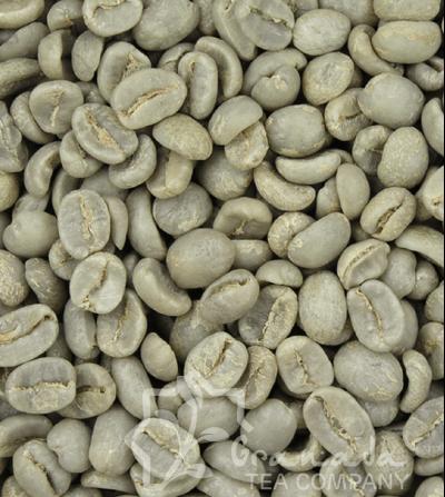Granos de café verde, sin tueste