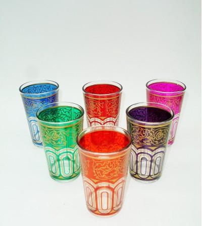 Vaso Marroquí Multicolor 6 ud.