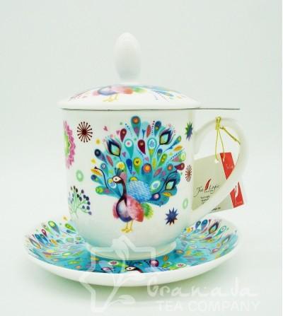 Mug Paula de porcelana con filtro, 350 ml.