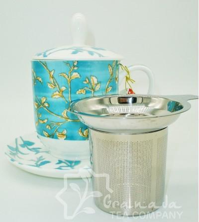 Mug Enya de porcelana con filtro, 350 ml