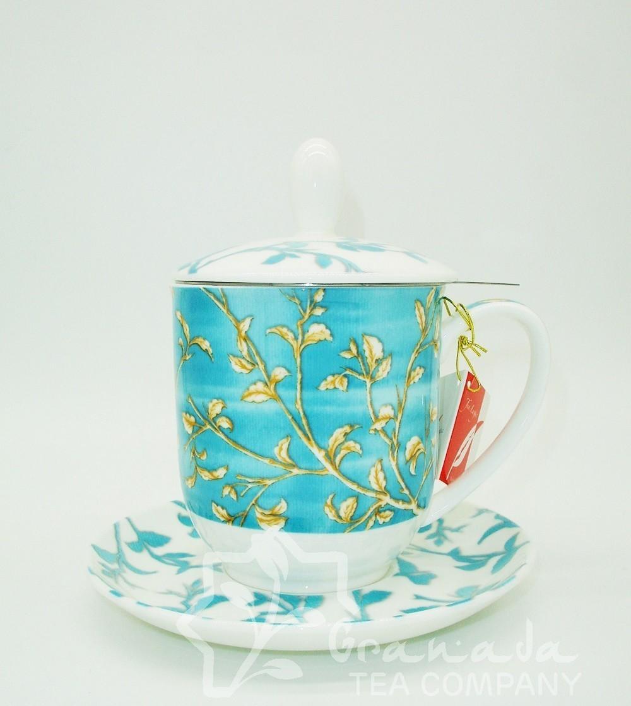 Mug Enya de porcelana con filtro, 350 ml.