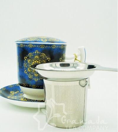 Mug Raffaella de porcelana con filtro, 350 ml
