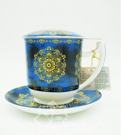Mug Raffaella de porcelana con filtro, 350 ml.