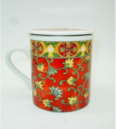 Mug de Porcelana Al Andalus Roja