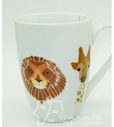 taza safari decoracion león