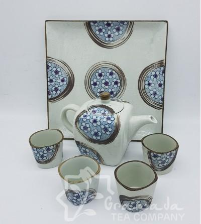 Mini Juego de Té Mela con bandeja  y 4 tazas