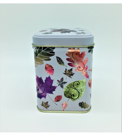 Lata para té hojas de otoño