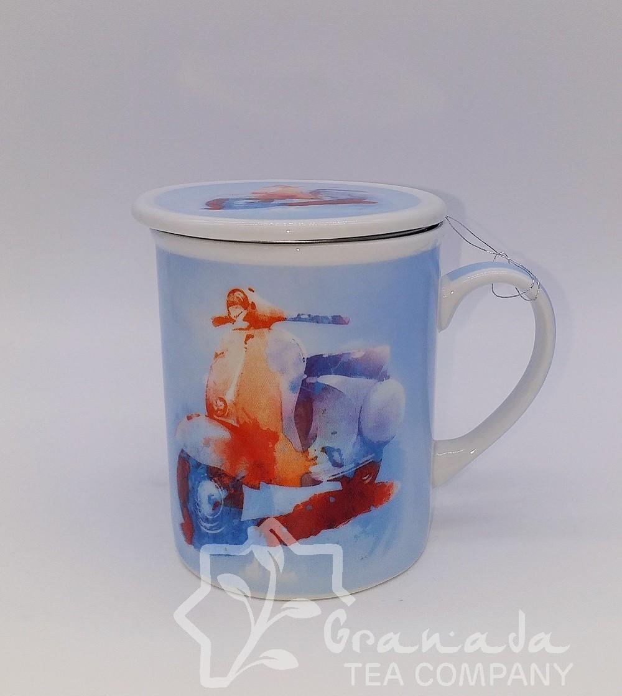 Mug con filtro Moto Vespa 350 cl.