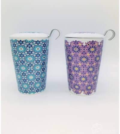 Mug con filtro Andalucía, doble pared, 0.35 l.
