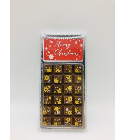 Mini Calendario de Adviento de Chocolate, 30gr