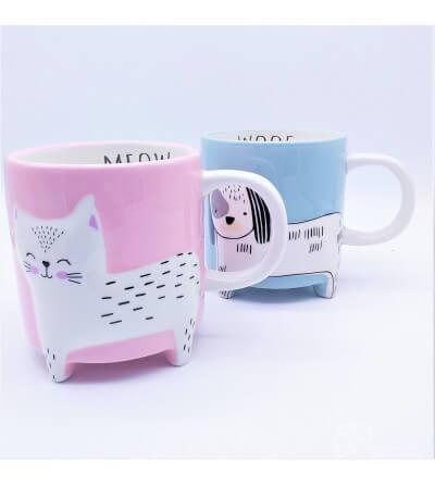Taza de Cerámica Gato&Perro, 0.4l. Aleatorio