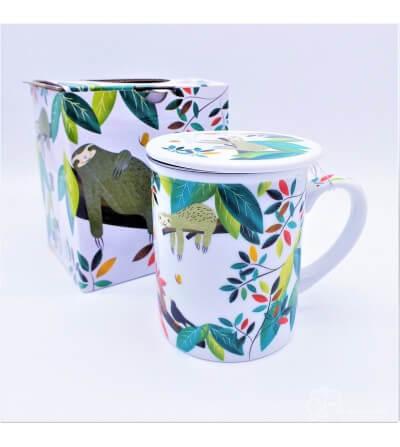 Mug con filtro acero inox. Perezoso, 0.250L