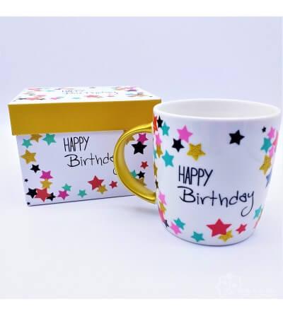 Mug en caja de Regalo Happy Birthday, 0,350 L
