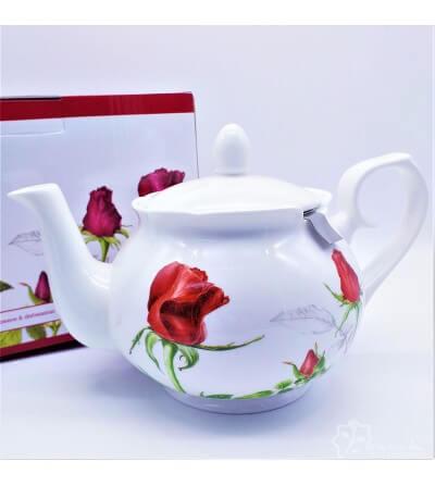 Tetera de Porcelana china fina Elizabeth con filtro de acero inox. 1L