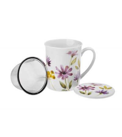 Mug con Filtro Flores Margaritas 0,350 ml