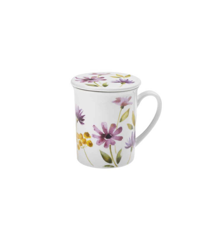 Mug con Filtro Flores Margaritas