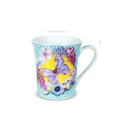 Tazas Mariposa Floral. Pack2